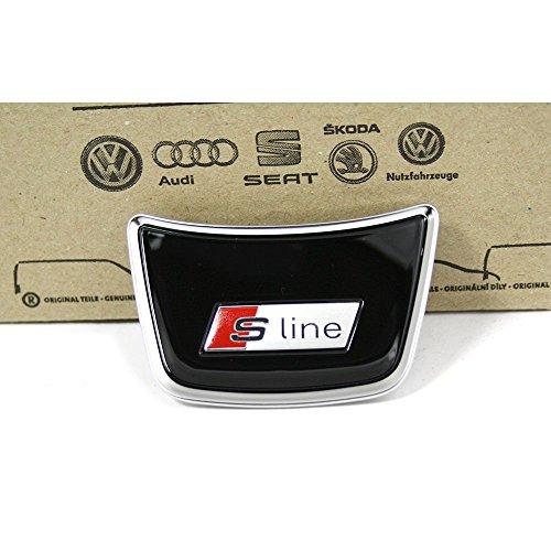 Original Audi S-Line Abdeckung Mitte für Sportlenkrad Interieur Blende Clip schwarz / Chrom