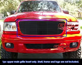 Compatible with 2004-2005 Ford Ranger All Model Black Billet Grille Grill Insert S18-H73258F
