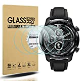 Suoman 3-Pack for Ticwatch Pro 3 Screen Protector, 2.5D 9H Hardness Tempered Glass Screen Protector forTicwatch Pro 3 Smartwatch