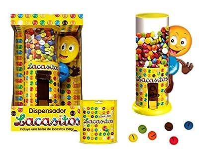 Máquina Expendedora Decorativa de Lacasitos + 150 gr. Golosinas y Chocolates. Dulces. Niños. Juguetes y Regalos Baratos para Fiestas de Cumpleaños, Bodas, Bautizos, Comuniones y Eventos.