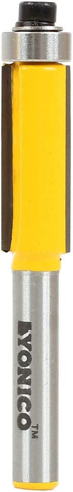 Yonico Router Bits Pattern Bit Flush 8-In 3 Trim free shipping 1-Inch Height X List price