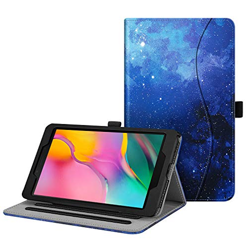FINTIE Case for Samsung Galaxy Tab A8 8-Inch Tablet 2019 (SM-T290 / SM-T295), [Corner Protection] Multi-Angle Viewing Stand Cover with Pocket, Starry Sky
