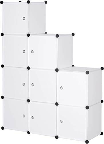 WOLTU SR0055ws DIY Armoire Plastique Chambre Faite de modules avec Porte pour Le Stockage de vêtements, Accessoires, ...