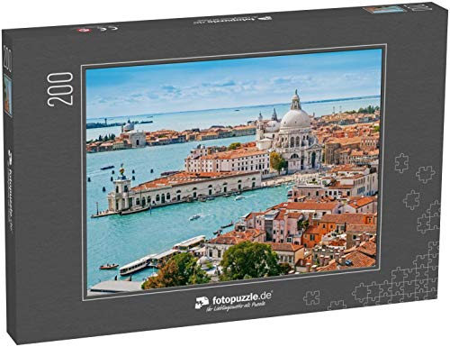 fotopuzzle.de Puzzle 200 Teile Panorama-Luftbild von Venedig mit der Kirche Santa Maria Della Salute, Veneto, Italien