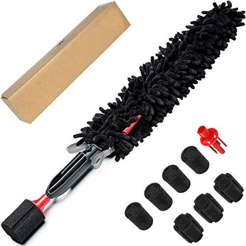 WOOLLYWORMIT Wheel Brush Car Detailing Kit - Lug Nuts & Wheel Cleaner Car Wash Kit - Car Cleaning Kit - Car Cleaning Supplies - Car Wash Brush Set