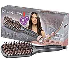 Remington CB7480 Smoothbrush Keratine Protect, hoogwaardige keramische borstelharen met keratine en amandelolie, grijs/roségoud*