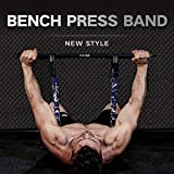 INNSTAR Adjustable Bench Press Band with Bar, Upgraded Push Up Resistance Bands, Portable Chest...