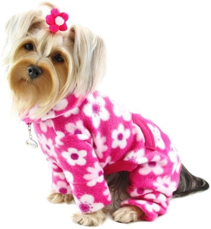 Full Blossom Fleece Turtleneck Dog Pajamas   Bodysuit Size  XSmall by Klippo Pet