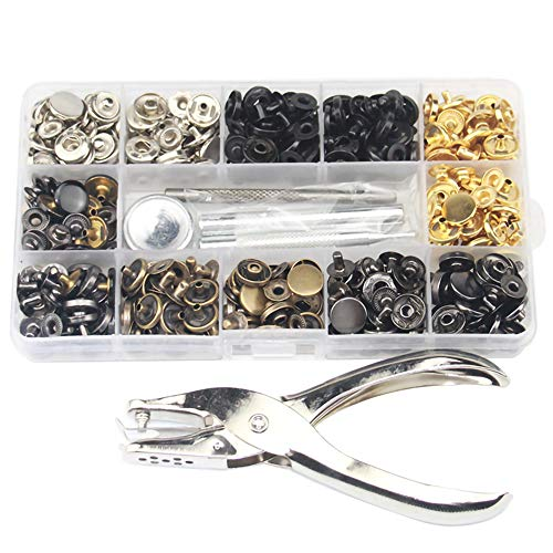 Press Stud Set with Pliers, 120 Pcs/Set Sewing Snap Clothes Fasteners Kit...