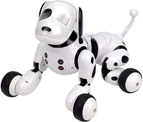 100% a estrenar con calidad original. SJHFDICKJFIF RC Inteligente Mascotas Perro Perro Perro Robot,Radio Control Programable Bailar Cantar,Electronic Pet Toy para Ninos,blanco  garantía de crédito