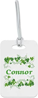 Personalized Custom Clovers Name Ireland Luggage Tag Finder