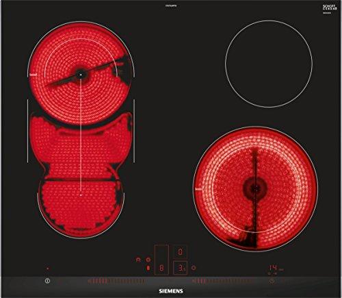 Siemens ET675LMP1D iQ500 Elektrische kookplaat, keramiek, 60,2 cm, timer met uitschakelfunctie, zwart