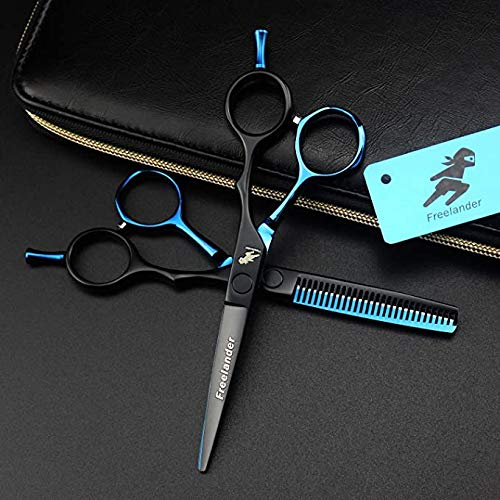 Gaojian Set Edelstahl professionelle Friseurscheren 5,5 Zoll Schneider Feinschneiden Schere flach geschnitten