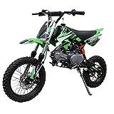 X-PRO 125cc Dirt Bike Pit Bike Gas Dirt Bikes Dirt Pitbike 125cc Gas Dirt Pit Bike (Green)