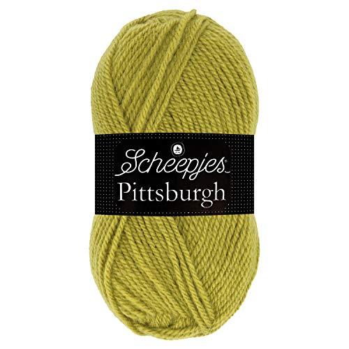 Scheepjes Pittsburgh 1581-9115 Lindgrün Handstrickgarn, 60% Polyacryl, 40% Wolle, one size
