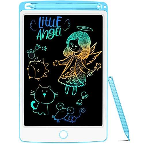 Tableta de Escritura LCD 8.5 Inch Colorida, NOBES LCD Tablero de Dibujo Gráfica Pizarra Magica de Mensaje Memo Pad Electrónico con Lápiz Regalos para Niños,Clase,Oficina,Casa,Cocina (Blue)
