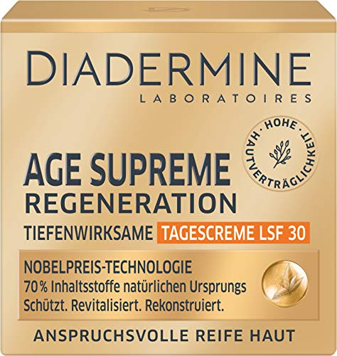 DIADERMINE Age Supreme Regeneration Tagespflege Tiefenwirksame Tagescreme LSF 30, 1er Pack (1 x 50...