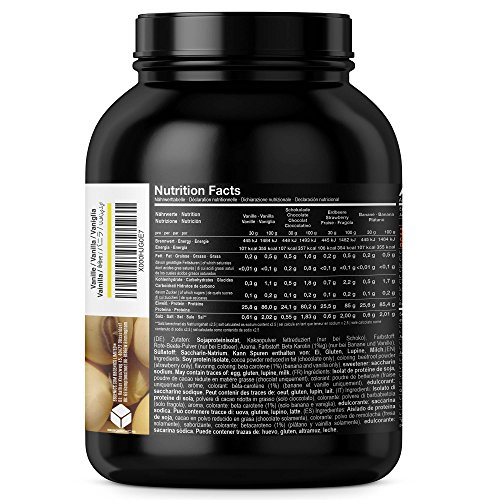 Soja Isolate GOLD – (100% vegan natural Soy Protein, lactosefrei, natuerliches Eiweiss Isolat), by BBGenics Sports Nutrition, 1000g Vanille - 2