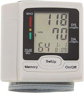 Bedler Monitor de presión Arterial automático Esfigmomanómetro de muñeca Pantalla Digital LCD Uso doméstico médico para medir la frecuencia del Pulso Esfigmomanómetro