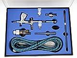 GANZTON 180K Airbrush Kit Dual Action Air Brush Kit Spray Gun Air Hose