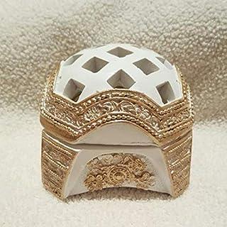 مبخرة بيضاء بزخرفة ذهبية