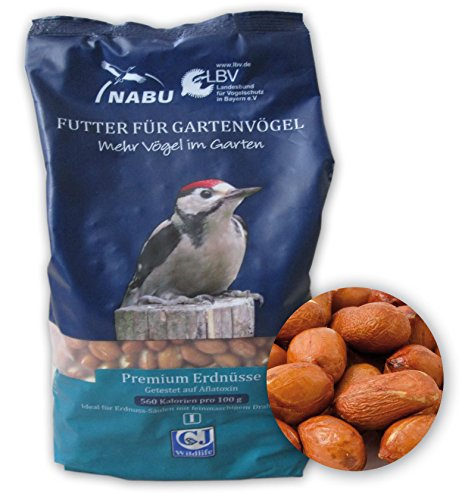 CJ Wildlife 200020615 Wildvogel-Futter Premium Erdnüsse 2 kg