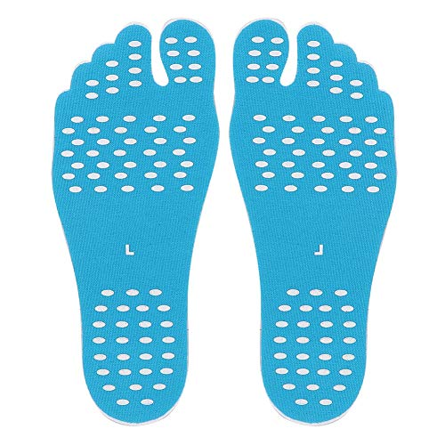Canyita plakkerige zool pads, 1 paar lijm anti-slip waterdichte hittebestendige onzichtbare voeten pads perfect voor zomer outdoor strand, zwembad, park