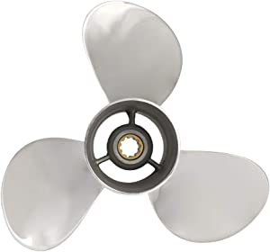YOUNG PROPS OEM Upgrade 9 7/8 X10 1/2 Stainless Steel Outboard Propeller for Yamaha Engines 20-30 HP Reference 664-45945-00-EL, 10 Tooth, RH