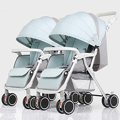 Buy Bargain Twins and Twin Strollers- Tandem Double Pushchair from Birth- Reversible Seat Convertibl...