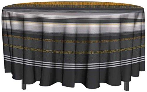 Soleil d 'Ocre tafelkleed, tafelzeil, rond 160 cm Feston, PVC, geel, 160 x 160 cm