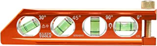 Klein Tools 935AB4V Torpedo Level, Magnetic, 4 Vial for Conduit Bending & More with V-Groove & Magnet Track