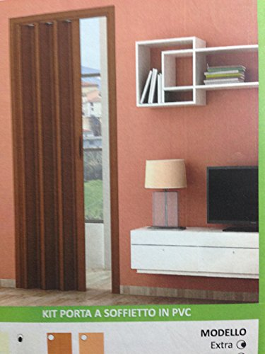 Rollplast - Kit de puerta de fuelle de PVC, 82 x 224 cm, color blanco o marrón