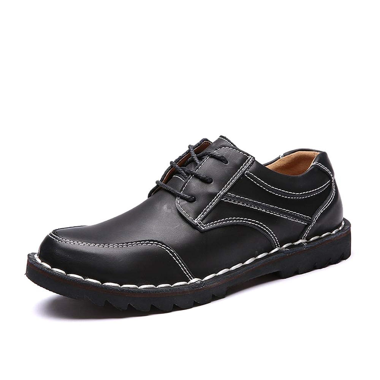 [Tiandao] ドライビング ビジネス メンズ シューズ 防滑 軽量 通気 カジュアル 革靴 ハイキング