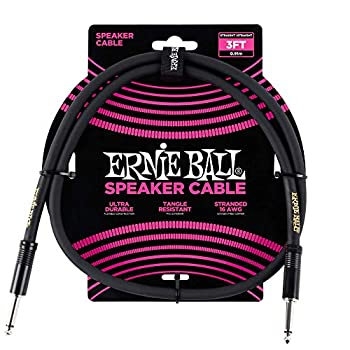 Ernie Ball Stage and Studio Speaker Cable Black 3 ft