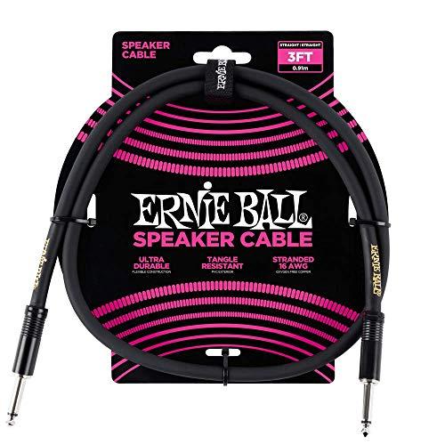 Ernie Ball 3  Straight   Straight Speaker Cable