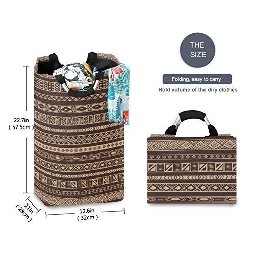 FANTAZIO Afrikaanse tapijt patroon grote wasmand opvouwbare stof waszak, opvouwbare kleding tas