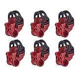 Blueshyhall Soporte de coche para bicicleta todoterreno, para maletero y bicicleta,de almacenamiento, ganchos de repuesto, 6 unidades