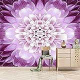 VITICP 3D Papel Pintado Extraíble Flor morada de moda Pegatinas de Pared Auto-Adhesivo Adhesivos Decorativo Arte Mural para Cuartos Dormitorio Sala Hogar 250x175 cm
