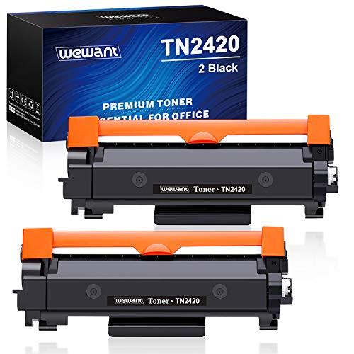 Wewant Toner TN-2420 TN2410 Ersatz für Brother TN2420 Tonerkartusche Kompatibel mit Brother MFC-L2710DW HL-L2350DW DCP-L2530DW MFC-L2710DN MFC-L2730DW MFC-L2750DW HL-L2310D HL-L2375DW, 2 Schwarz