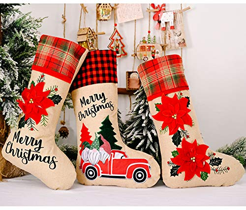 COMMON'H Large Size Christmas Stocking Gift Bags Xmas Decorations Girls Boys Living Room Candy Bags
