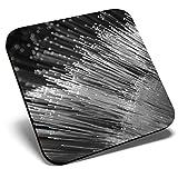 Gran posavasos cuadrado BW – Fibra Óptica Cable Engineer Tech | Posavasos de calidad brillante | Protección de mesa para cualquier tipo de mesa #35394