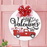 Happy Valentine's Day Wooden Round Door...