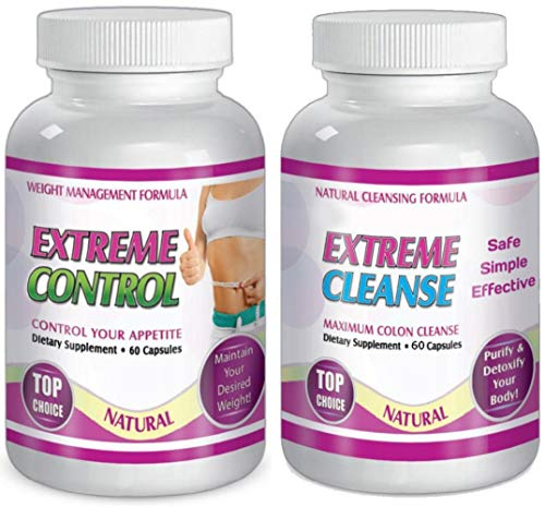 Extreme Cleanse Control Weight Loss Diet System Kit 30 Day Supply All Natural by Slimax