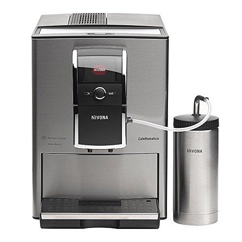 Nivona CafeRomatica 858Kaffeemaschine, freistehend, vollautomatische Espressomaschine für Kaffeebohnen, aus Chrome und Edelstahl, mit Tasten, rotierend