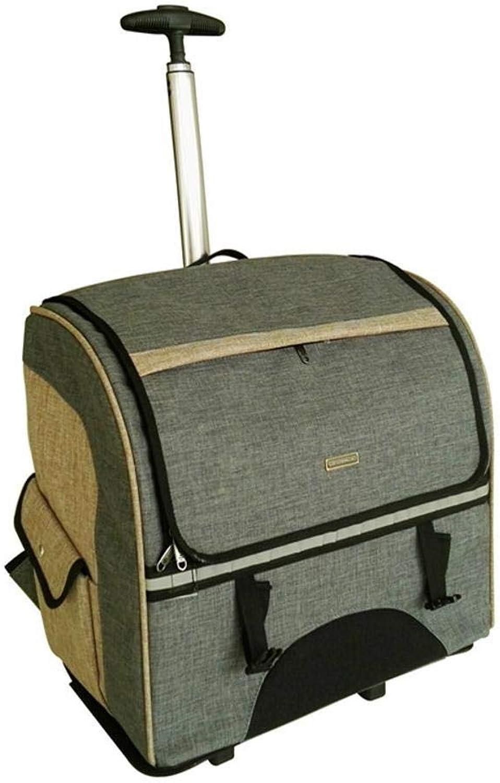 Aoligei Oxford Detachable Trolley Bag Backpack Bag Portable pet Dog Suitcase cat cage, 44  23  39cm