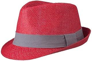Farbe : Blau, Gr/ö/ße : 56-58CM Exquisite Fedora Hat Hut Mode Frauen Fedora Hut G/ürtel Mit Breiter Krempe Ornamente Fedora Hut Wolle Outdoor Casual Hut Top Jazz Hut