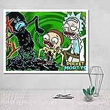 wtnhz Sin Marco Pintura Foto Lienzo póster Cuadros de Pared para Sala de Estar Pintura al óleo decoración habitación nórdico niño Arte Moderno