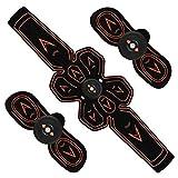 FWYCL ABS estimulador Muscular Abdominal de tóner cinturón de tonificación electroestimulación ccsme Formación del Ministerio del Interior de Entrenamiento (Carga del USB),Black