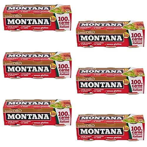 18x Montana Linea Oro Carne Enlatada Italiana En Ãspic 90g Â¡Listo Para Comer!