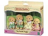 Sylvanian Families - Le Village - La Famille Caniche - 5259 - Famille 4 Figurines - Mini Poupées